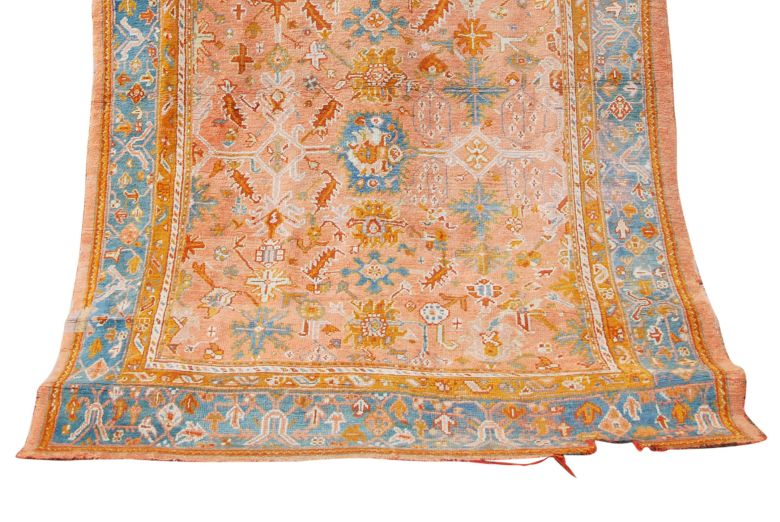 A late 19th century Ushak carpet. Sold for £3300