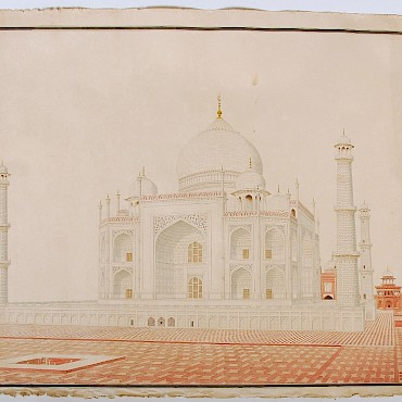 From a Private Collection of ten rare early 19th century Indian Company School watercolours, The Taj Mahal, sold for £14,000