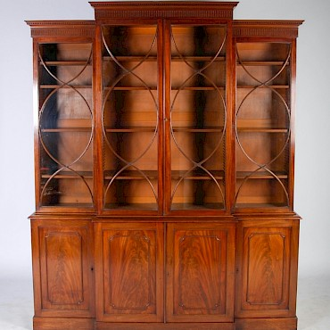 A George III mahogany breakfront bookcase, sold for £8,000