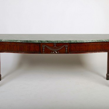 A late 18th century Irish mahogany console table in the Neo-Classical taste, sold for £4,000