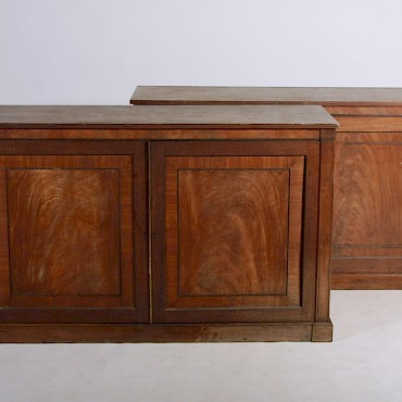A pair of Regency mahogany and ebony lined side cabinets, attributed to Gillows, sold for £7,300