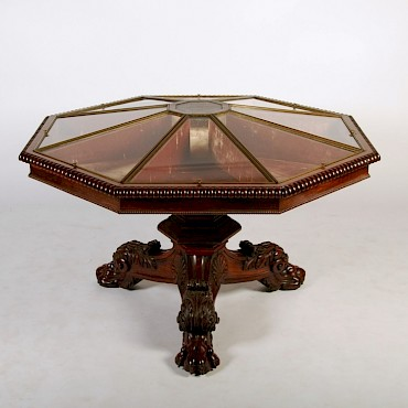 The Cluny Table, A Regency rosewood octagonal top vitrine formerly in the Carnegie Family, sold for £13,100
