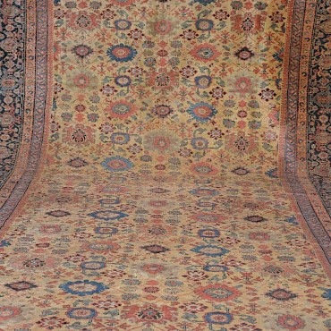 A large Persian carpet, late 19th century, sold for £10,500