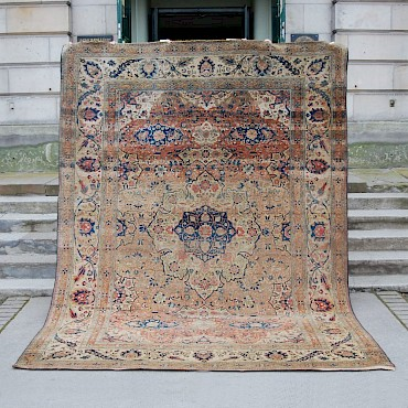 A Persian carpet, 19th century, sold for £5,400