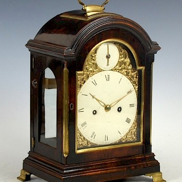 A George III bracket clock, Hayley and Milner, London, sold for £4,400