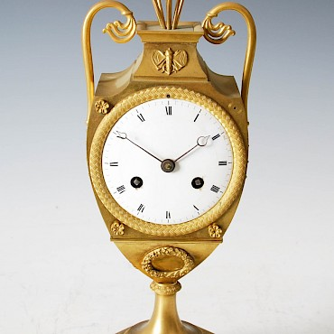 A Regency ormolu mantle clock, sold for £580