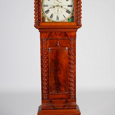 A Victorian mahogany longcase clock, D. Lumsden, Anstruther, sold for £1,200