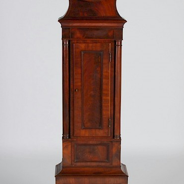 An early 19th century mahogany drumhead longcase clock, John Bryson, Dalkeith, sold for £900