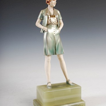 Ferdinand Preiss, An Art Deco cold painted bronze and ivory figure, sold for £12,000