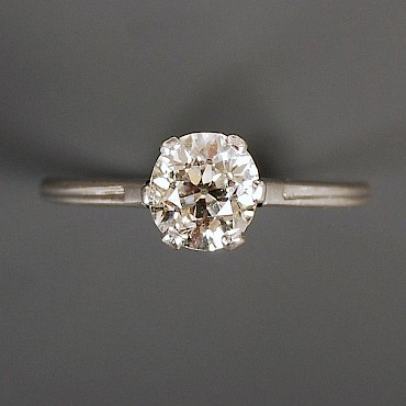 A diamond soliatire ring, 1.12cts, sold for £1,350
