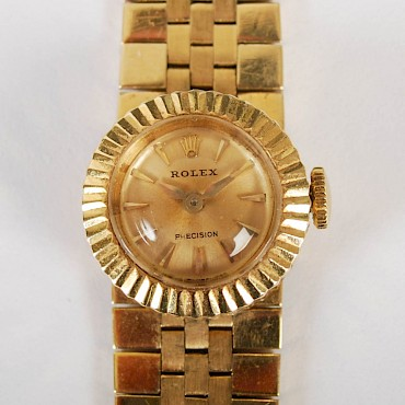 A ladies 18ct gold Rolex, sold for £720