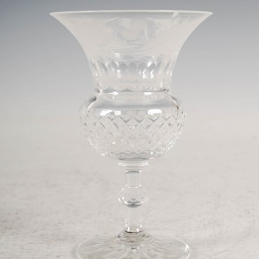 From a suite of Edinburgh Crystal thistle shaped glassware, sold for £1,250