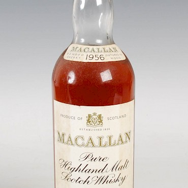 The Macallan Pure Highland Malt Scotch Whisky, 1956, sold for £1,250