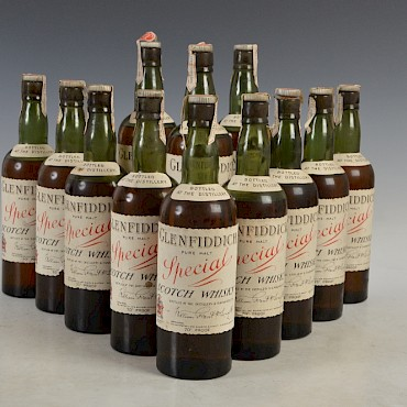 Part I of a 26 x bottle consignment of Glenfiddich Special Pure Malt Scotch Whisky, the consignment of 26 bottles sold for in excess of £30,000