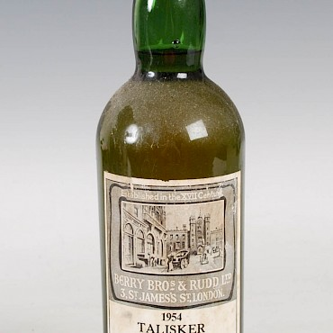 Talisker Scotch Whisky, 1954,  bottled in 1966, Berry Bros. & Rudd, sold for £680