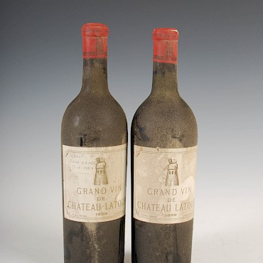 Two bottles of Grand Vin De Chateau Latour, 1899, sold for £3,500