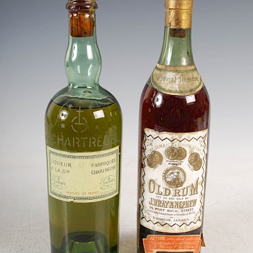 Two bottles of vintage spirits, comprising, J. Wray Nephew Special Reserve Old Rum, and I Garnier Grand Chartreuse, sold for £8,500