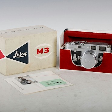 A vintage Leica M3 camera, number 852-520, sold for £780