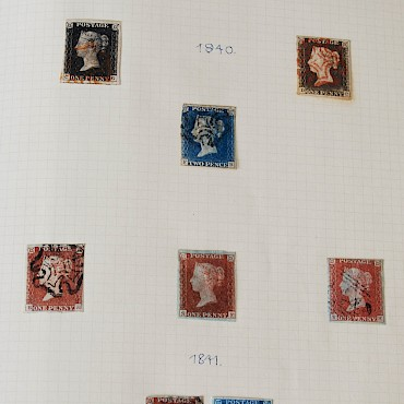 A Victorian and later stamp collection incorporating Penny Blacks, Penny Blues and Penny Reds, sold for £1,850