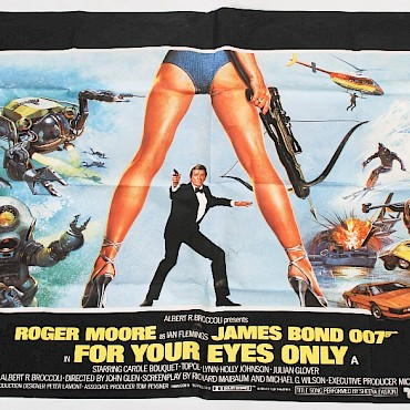 James Bond 007, For Your Eyes Only, an original film poster, Lonsdale Bartholomew Ltd., sold for £230
