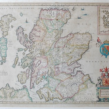 Jansson J. Scotia Regnum, hand coloured map, sold for £200