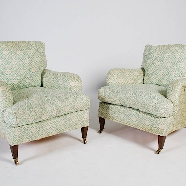 Featured lot 182. A pair of Lenygon & Morant Ltd. Howard armchairs, £800-1,200