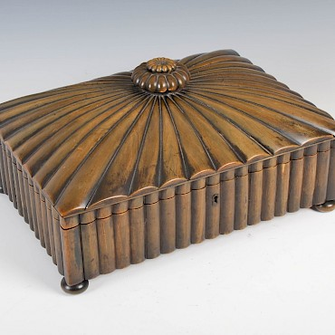 Lot 152. A 19th century Anglo-Indian horn and sandalwood work box, sold for £750