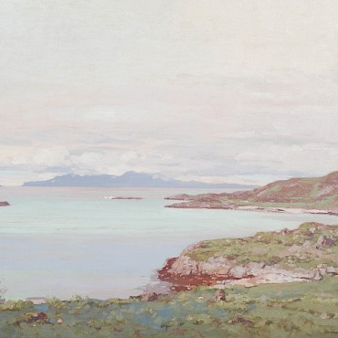 Lot 225. George Houston RSA RSW RGI (1869-1947) Jura from Knapdale, oil on canvas, sold for £2,300